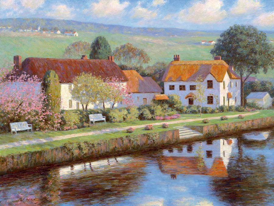Canvas print, painting titled English Countryside by the artist Bi Wei Liang Tronolone