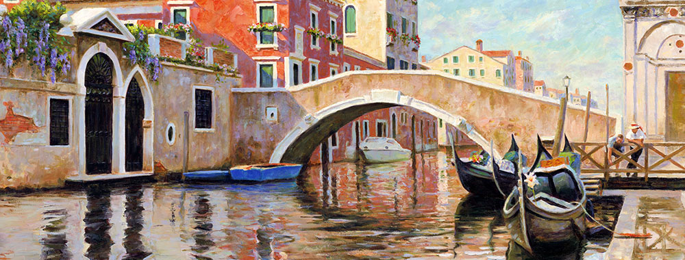 Canvas print of the oil painting Venice art for sale by the artist Bi Wei Liang