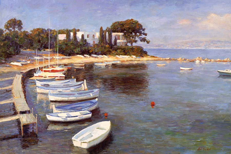 Canvas print, painting titled Cannes France by the artist Bi Wei Liang Tronolone