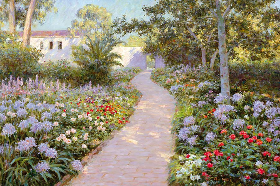 Canvas print, painting titled Santa Barbara by the artist Bi Wei Liang Tronolone