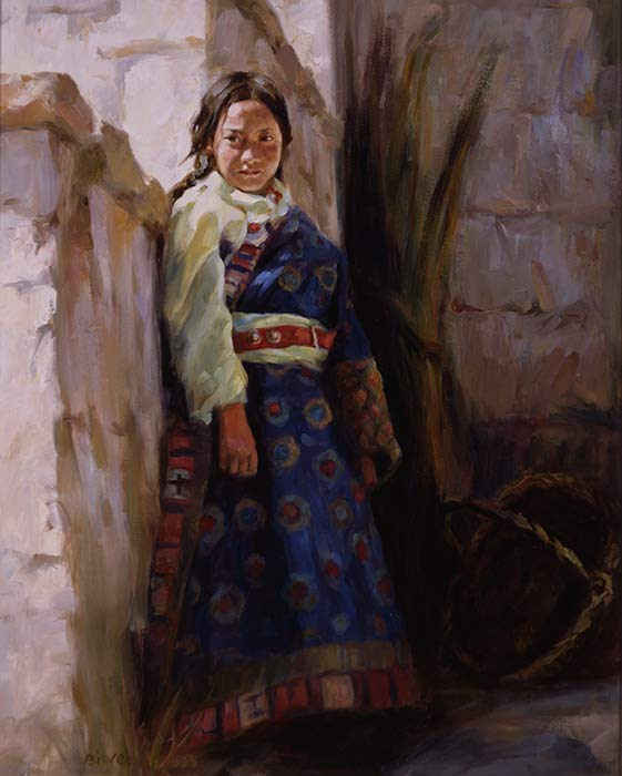 Canvas print, painting titled Titetean Girl by the artist Bi Wei Liang Tronolone