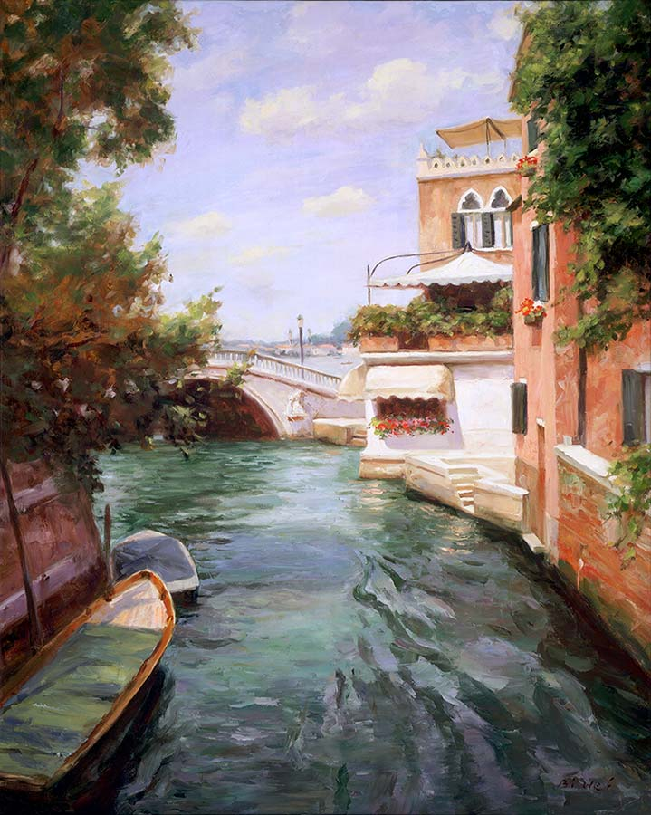 Canvas print, painting titled Venice Terrace by the artist Bi Wei Liang Tronolone