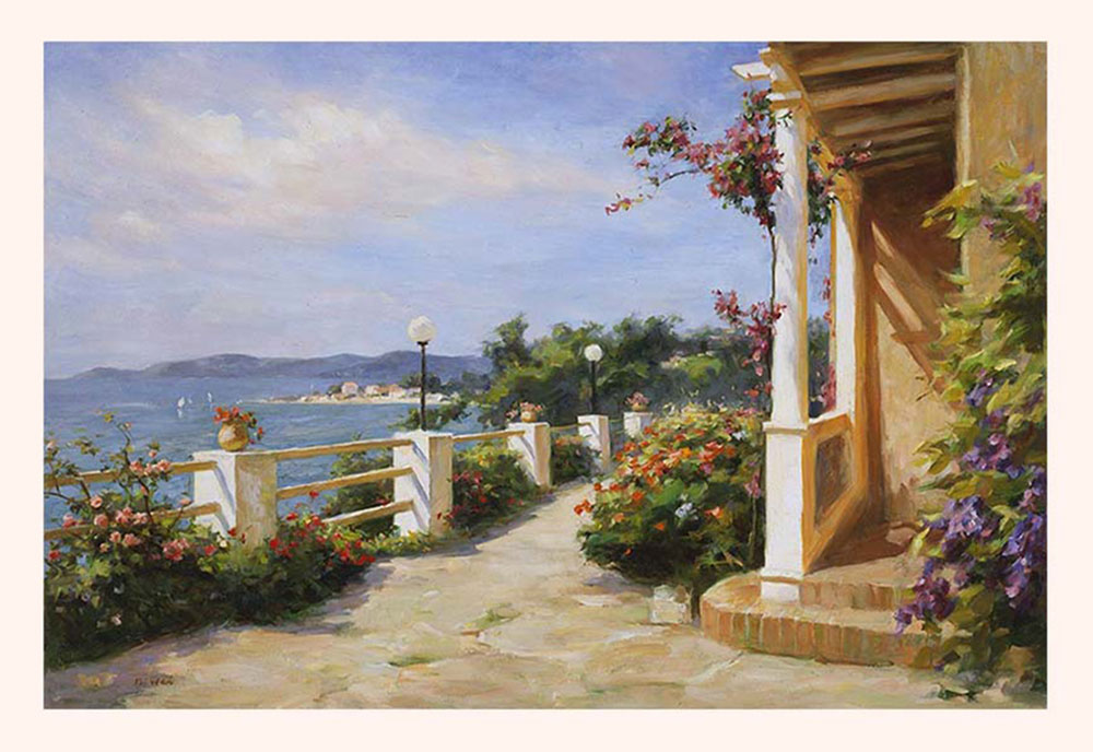 Poster Print, painting titled French Mediterranean by the artist Bi Wei Liang Tronolone