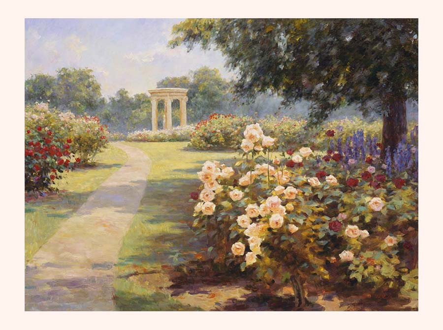 Poster Print, painting titled Huntington Garden by the artist Bi Wei Liang Tronolone